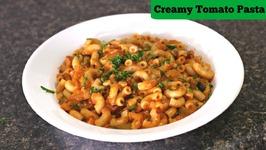 Creamy Tomato Macaroni - Quick Tiffin / Snack