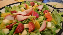 How to Make Green Salad with Orange, Roasted Radish and Goat Milk Cheddar