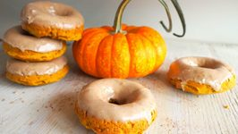 Breakfast Recipe- Baked Pumpkin Doughnuts