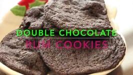 Double Chocolate Rum Cookies