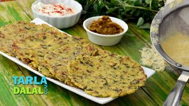 Corn and Vegetable Roti/ Indian Vegetable Roti with Maize Flour Recipe/ Lunch Recipe
