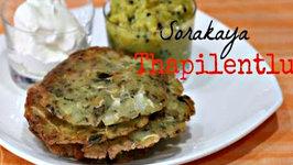 Sorakaaya Thapilentlu or Bottle gourd Roti - Easy Vegan and Gluten Free Breakfast - Snack Recipe