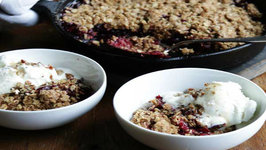 Cranberry Cobbler with Honey Pecan Butter