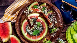 Green Kitchen - Green Watermelon Pizza Recipe - Delicious & Tasty