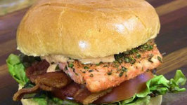 Herb Crusted Salmon BLT Recipe or A Healthier Alternative