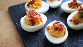 Bacon Kimchi Deviled Eggs Korean Fusion Recipe
