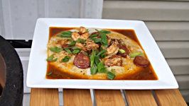 Cajun Shrimp and Grits with Red Eye Gravy