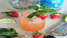 Cocktail Strawberry Ginger Fizz