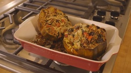 Asiago And Quinoa Stuffed Acorn Squash