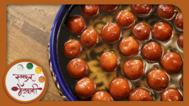 Gulab Jamun  Easy Homemade Indian Sweet Dessert  Recipe by Archana in Marathi