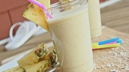 Healthy Pina Colada Breakfast Smoothie