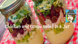 Chicken, Grape and Kale Salad in a Jar