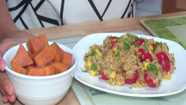 Nutritious Grain Salad with Sweet Potato as a Healthy Dessert