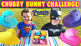 Chubby Bunny Kids Challenge With Peeps videos For children