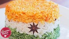 Tiranga Pulav - Vegetarian Tricolor Rice - Independence Day DIY Recipe