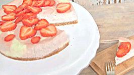 Decadent Strawberry and White Chocolate Cheesecake
