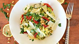Dinner Recipe- Lemon, Butter And Caper Zucchini Noodles