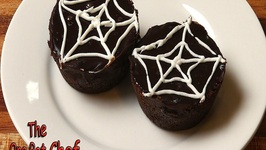 Spider Web Chocolate Tarts- Halloween