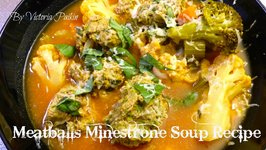 Meatballs Minestrone Soup