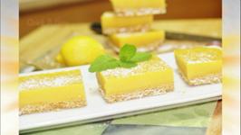 Lemon Bars or Lemon Squares - No Bake - No Egg