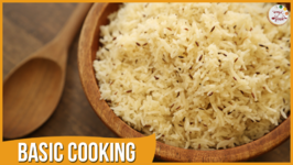 Jeera Rice  Easy and Quick Indian Rice  Recipe by Archana in Marathi  Basic Cooking