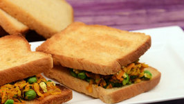 Carrot and Green Peas Sandwich (Vitamin A Rich)