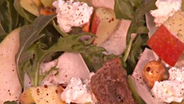 Crunchy Witlof and Hazelnut Salad with Apple and Goats Cheese