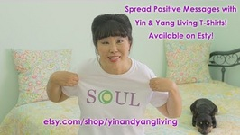 Spread Positive Messages with Yin and Yang Living T-Shirts on Etsy!