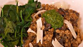 Mushroom Garlic and Barley Risotto