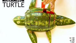 WATERMELON TURTLE - How To Cut A Watermelon