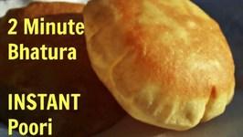 Instant Bhatura  No Dough  2 Minute Bhatura or Poori  Quick fix Tip