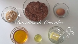 Barritas de Cereales con Chocolate con Thermomix  / Como hacer Barritas de Cereales de Chocolate