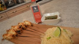 Rice Noodle Wrapped Shrimp With Blood Orange And Ponzu Soya Dipping Sauce