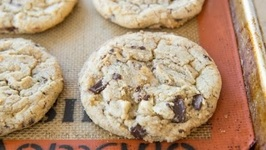 White and Dark Chocolate Chunk Cookies