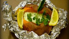 Baked Sweet Potato With Herbed Greek Yogurt Topping