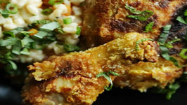 Butternut Squash Risotto and Curry Fried Chicken