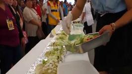 Holy Guacamole - Chefs Prepare Giant One Ton Enchilada