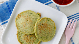 Green Veggie Pancakes - Healthy Side Dishes