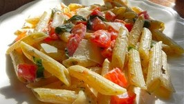 Tomato, Basil and Cheese Pasta (Valentine's Day Pasta)
