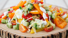 All Veggie Nachos - Healthy Snack