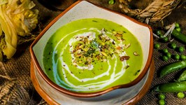 Green Kitchen - Green Pea Soup - Instant and Tasty Recipe