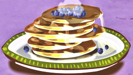 Yummy Recipes For Kids - Fluffy Blueberry Pancakes