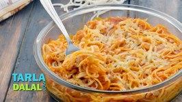 Baked Spaghetti in Tomato Sauce