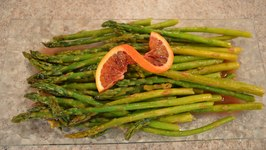 How to Cook Oven-Baked Asparagus with Blood Orange