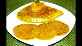Hara Bhara Oat Chilla / Cheela / Savory Oat Pancakes with Spinach and Zucchini