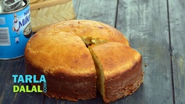 Eggless Vanilla Sponge Cake (Pressure Cooker)