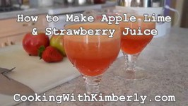 How to Make Apple Lime & Strawberry Juice
