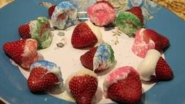 Dessert/ White Chocolate Covered Strawberry