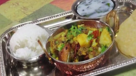 Aloo Baingan Korma - Spicy Potato and Eggplant