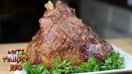 Maple Bourbon Double Smoked Ham Recipe On The Masterbuilt Smoker